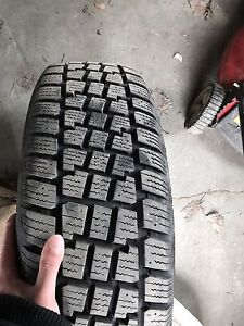 BASICALLY NEW SET OF 4 WINTER TIRES ON RIMS STEAL OF A DEAL