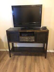 Rustic handmade entertainment stand