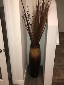 Tall Wood Floor Vase