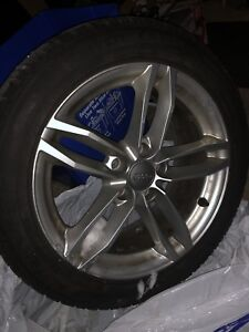 225/50/17 Dunlop winter tires and rims set of 4