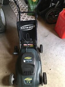 Electric Lawnmower with bag
