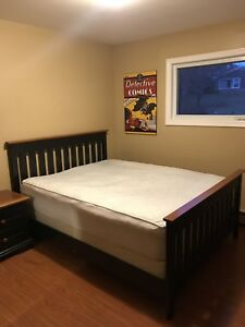 Queen Bed Set with box spring and mattress