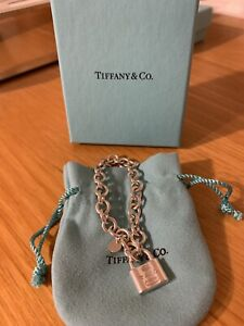 Tiffany & Co authentic silver padlock bracelet - as new