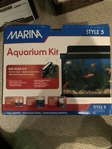 "Marina Style 5. 19 L (5 gallon) fish aquarium kit. 16""x8""x10"""