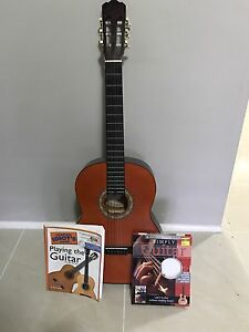 Classical guitar + 2 beginners books Petrie Pine Rivers Area Preview