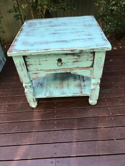 Shabby chic small coffee table or lamp table