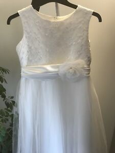 White first communion, special occasion dress-girls size 16/18