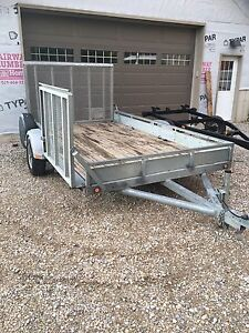 6.5 x 12 utility trailer with dual ramps