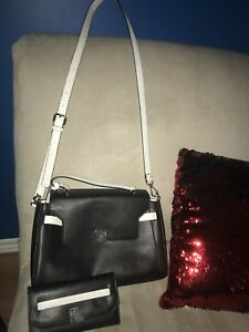 black guess crossbody and matching wallet