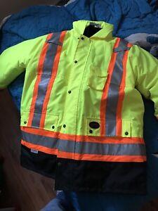 Safety work jacket.