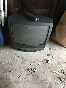 Samsung TV, with attached VCR.