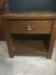 Wooden Side Table FREE (Gone Pending Pickup)