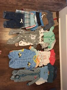 Large lot of baby boy clothes 3-12 months