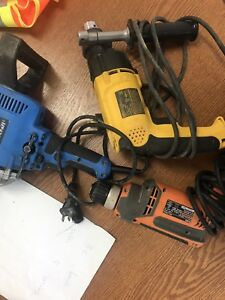 Dewalt dw511+RIDGID R7001+mastercraft 5/8 low gear corded drill
