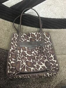NINE WEST-leopard print purse