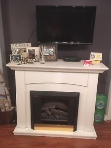 Electric Fireplace White