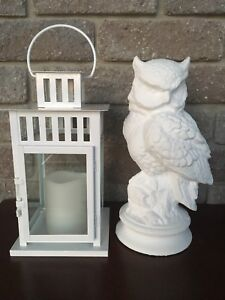 IKEA lantern and owl