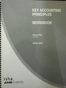 KEY ACCOUNTING PRINCIPLES WORKBOOK VOL 1 3rd edition