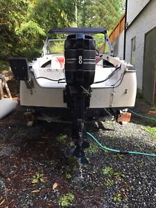 15.5' K&C with 80hp Mercury outboard