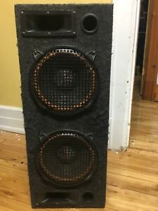 Powerful boombox 2x10'' subwoofers + 2 tweeters
