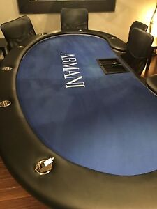 Poker Table  Armani made / 9 chaise / chair