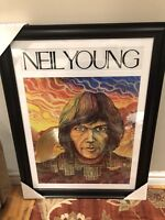 Neil young platinum record framed print