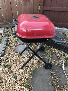 Charcoal barbecue works good, only used a few times