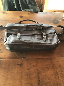 New Price - Roots genuine leather School Messenger Bag