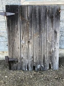 Reclaimed barn board door