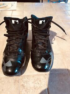 Under Armour metal cleats -size 7