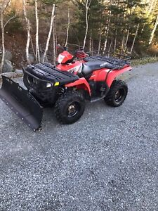 Polaris Sportsman 500 HO Plow Package Low Kms