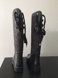 Women's Coach Rain-boots - Black - Size 5