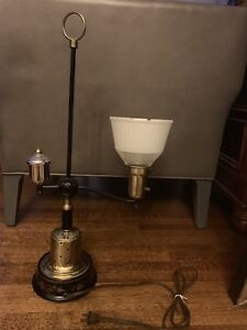 Antique black and brass lamp