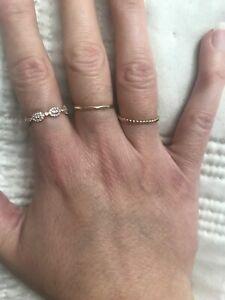 14 K Rose gold diamond ring/wedding band  - vintage look