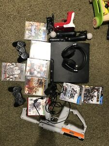 PS3, ps move with sharpshooter and headset