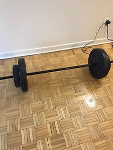 Barbell weights 70lbs in total