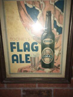 Flag ale brooks lithograph