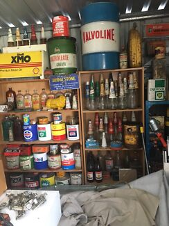 Looking for old oil bottles tins signs