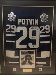 Felix potvin signed and framed jersey