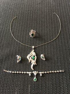 4 pcs real silver diamond set (good for christmas gift!)