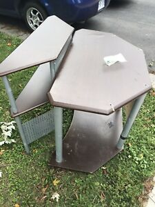 Free desk with shelving