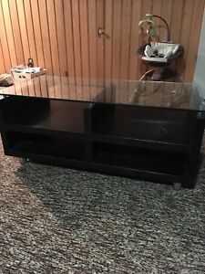 Structube glass top coffee table