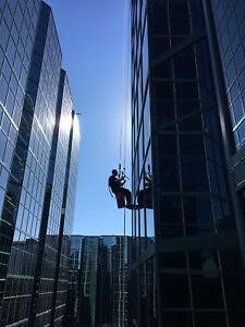 Full time  high rise window cleaner