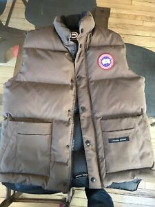 Canada goose vest men's medium brown