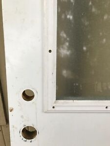 Steal exterior door with a window