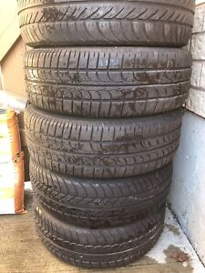 185 65 14 four summer tires with rims