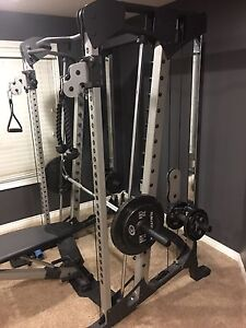 Cable cross over and smith machine