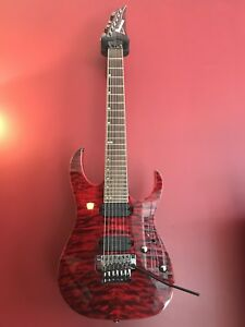 Gas/ft Ibanez rg827qmz 7 string / trade for nice acoustic.