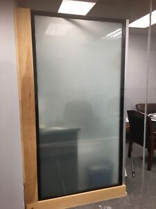 Frosted glass window (approx 8x4 ft)