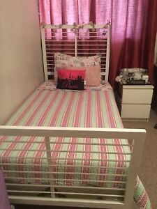 TWIN BED WITH NIGHT TABLE